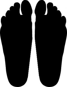 Imprint of flat feet