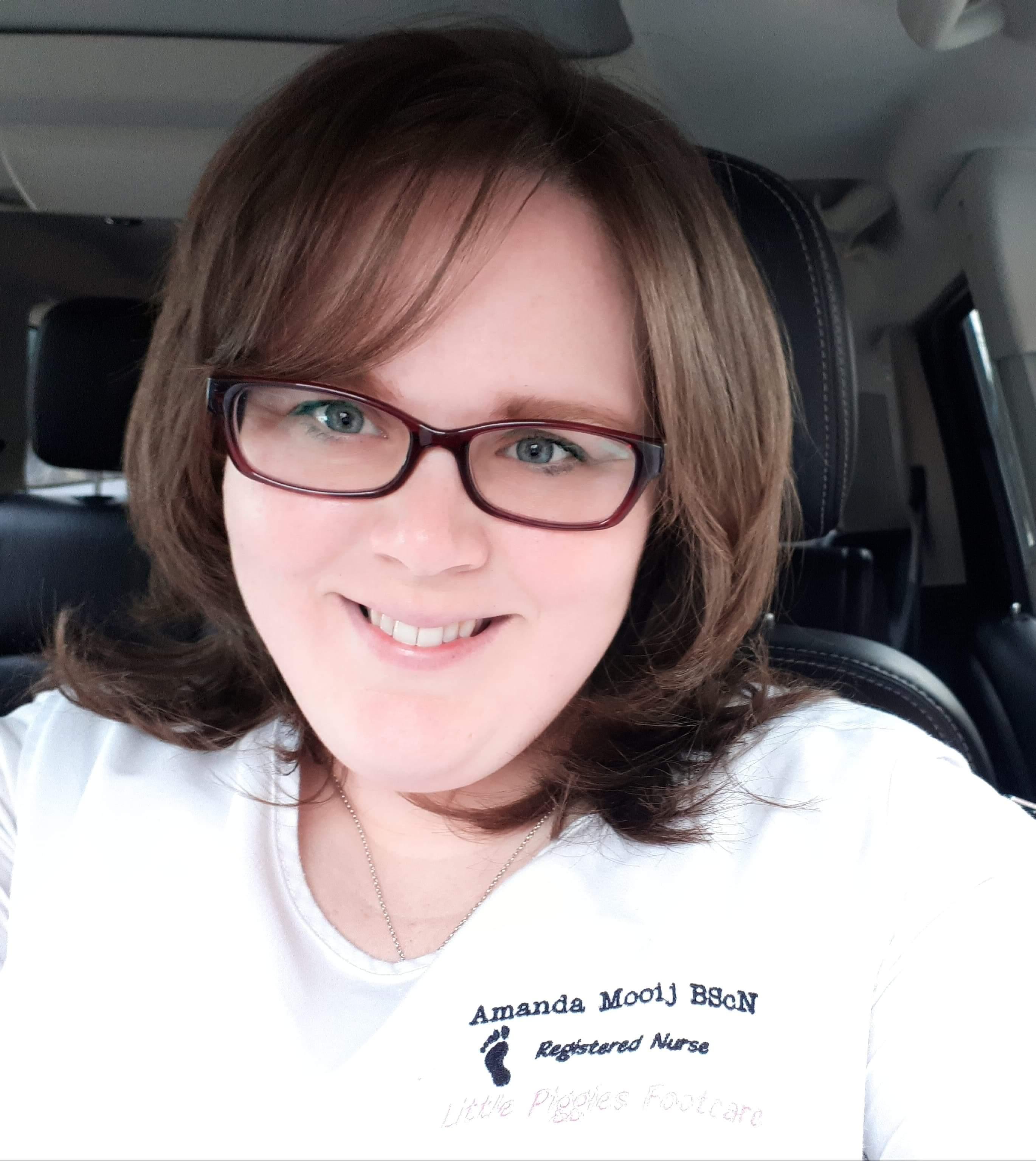 Amanda Mooij, footcare nurse