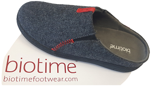 Grey BioTime Slipper with removable insole