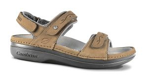 KONA Light Taupe 3 Strap Cambrian Sandal