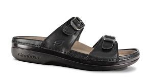 Women's Cambrian Sandal, Agean, Black, 2 Strap, removable insert