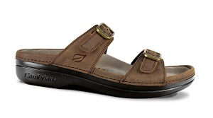 Women's Cambrian Sandal, Agean, Brown, 2 Strap, removable insert