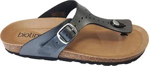 Biotime Brooke Women's Pewter, thong type sandal