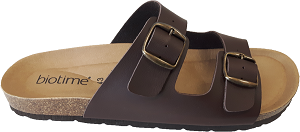 Biotime Carlin Men's Sandal, Brown, 2 strap