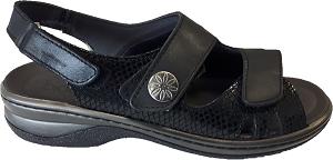 Biotime Grace Women's Sandal, black 3 strap
