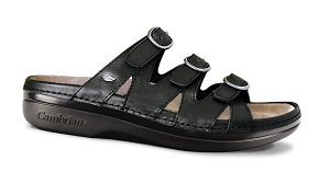 Women's Cambrian Sandal, Sylvan, Black, 3 Straps, removable insert