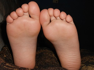 Bottom of the feet