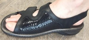 Biotime sandal with a bunion pocket