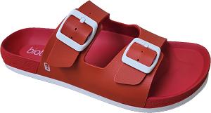 Biotime Bali Red Women's Waterproof Sandal, 2 strap, adjustable, built-in support