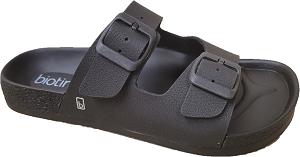 Biotime Brenda Black Waterproof Women's Sandal, 2 strap, adjustable, built-in support