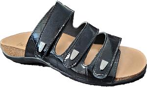 Biotime Sabrina Women's Sandal, black 3 strap