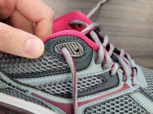 Use the last eyelet to reduce heel slippage